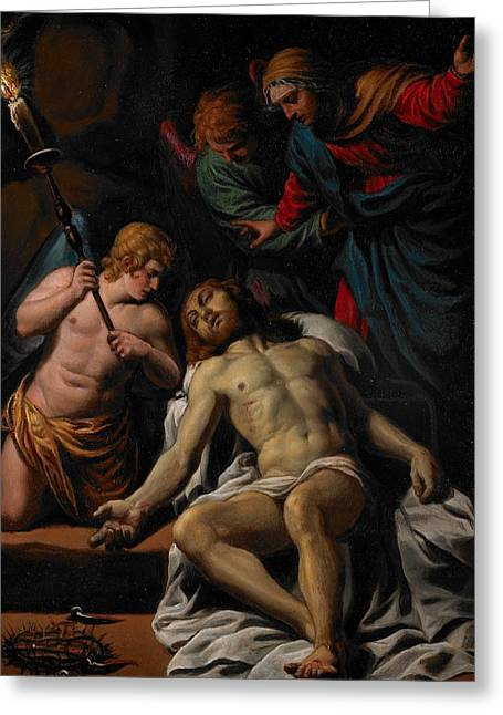 The Lamentation Greeting Card by Alessandro Turchi