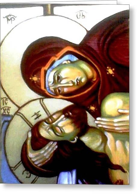 The Lamentation Greeting Card by Sonya Grigorova