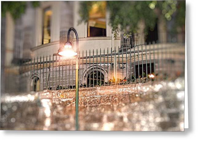The Lamp Post Greeting Card by Phillip J Gordon