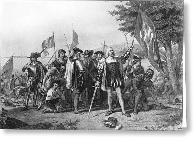 The Landing Of Columbus Greeting Card