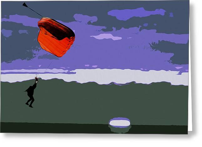 The Landing Zone Greeting Card by Jimi Bush