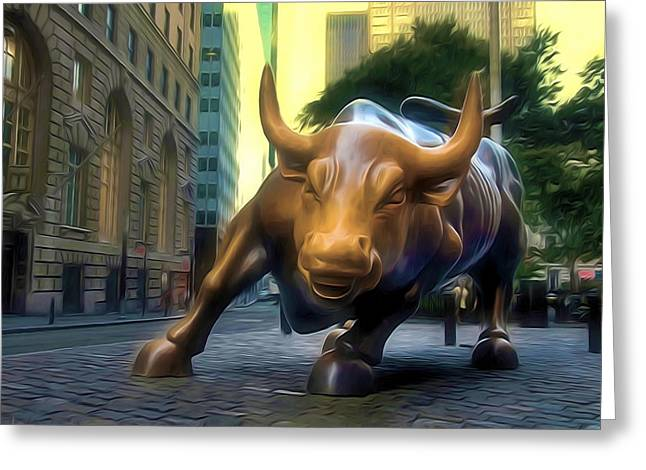 The Landmark Charging Bull In Lower Manhattan 2 Greeting Card