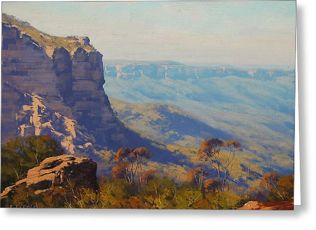 The Landslide Katoomba Greeting Card by Graham Gercken