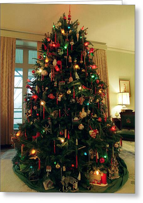 The Lane's Christmas Tree Greeting Card by Harold E McCray