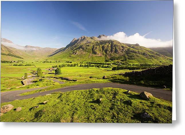 The Langdale Pikes Greeting Card by Ashley Cooper