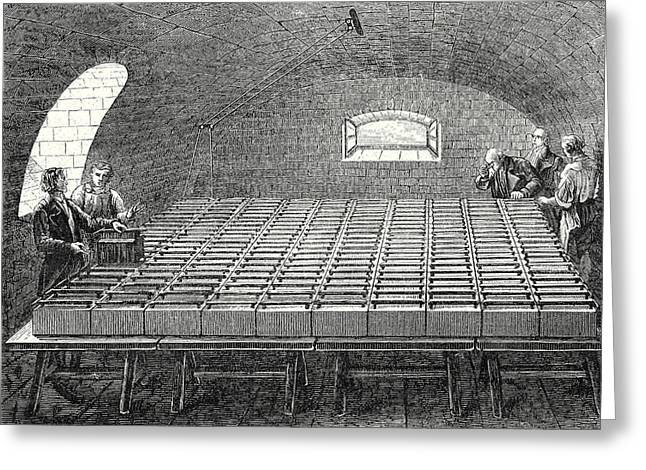 The Large Battery Of Wollaston Built By Davy In 1807 Greeting Card