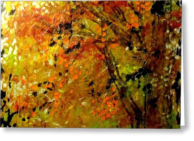 The Last Days Of Autumn Greeting Card by Cheryl Lynn Looker
