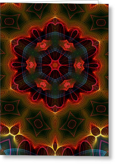 Greeting Card featuring the digital art The Last Flower II by Owlspook