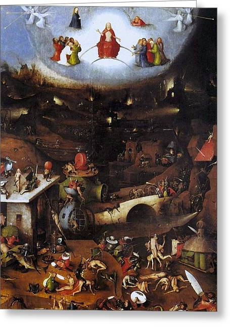 The Last Judgment - Central Panel Greeting Card by Hieronymus Bosch