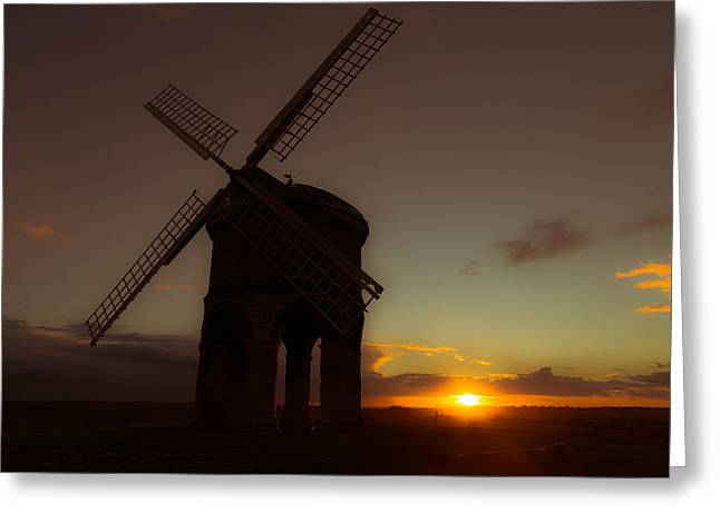 The Last Light Of The Day Greeting Card by Chris Fletcher