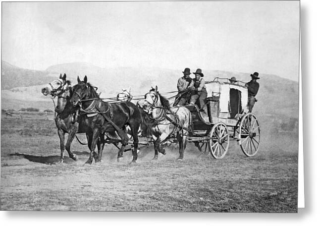 The Last Montana Stage Coach Greeting Card