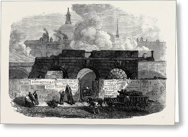 The Last Of The Old Fleet Prison 1868 Greeting Card by English School