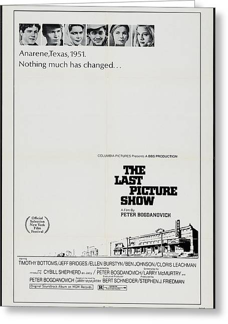 The Last Picture Show Greeting Card