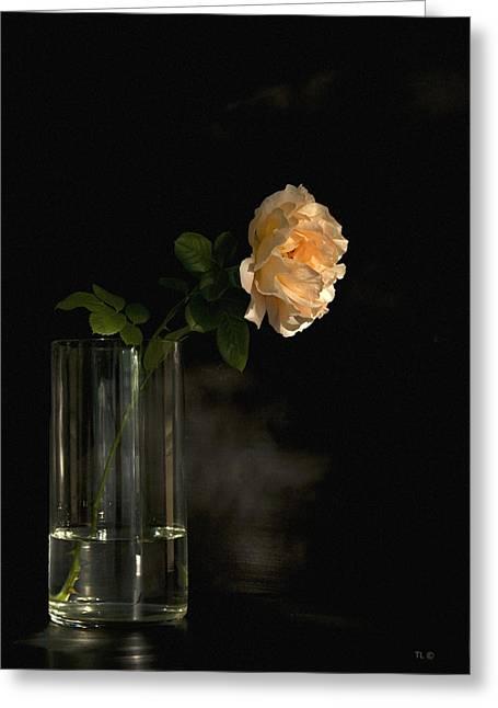 The Last Rose Of Summer Greeting Card by Theresa Tahara