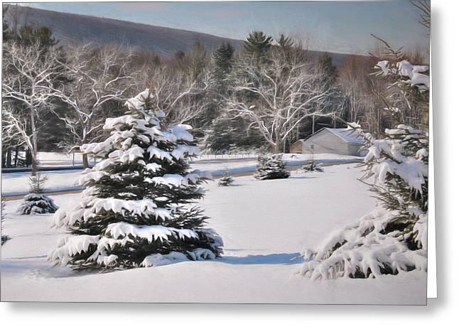 The Last Snow Greeting Card by Lori Deiter