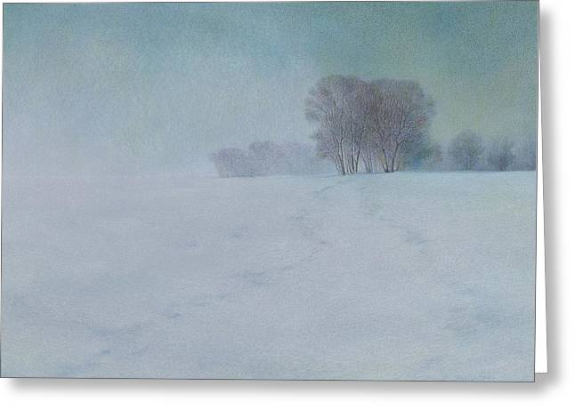 The Last Snow Greeting Card by Lynn Bywaters