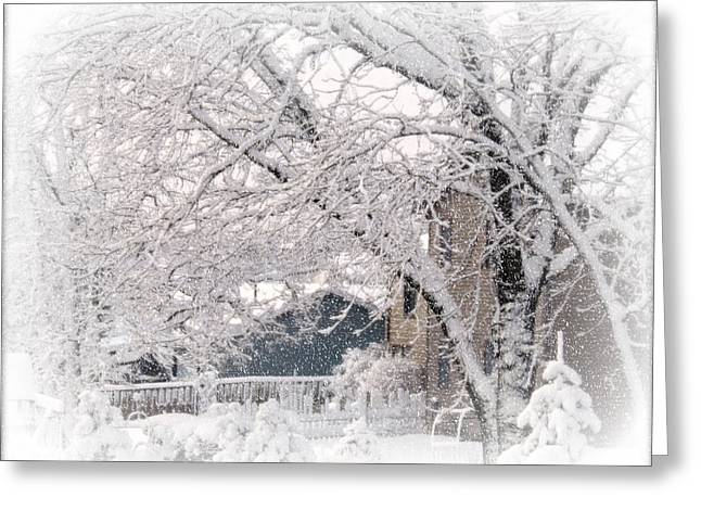 The Last Snow Storm Greeting Card by Kay Novy