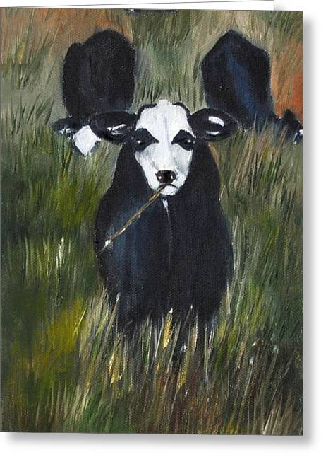 Greeting Card featuring the painting The Last Straw by Carol Sweetwood