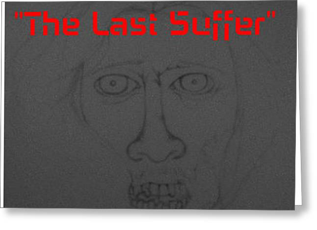 The Last Suffer Sketch Of Jesus As A Zombie Greeting Card by Benita Solomon