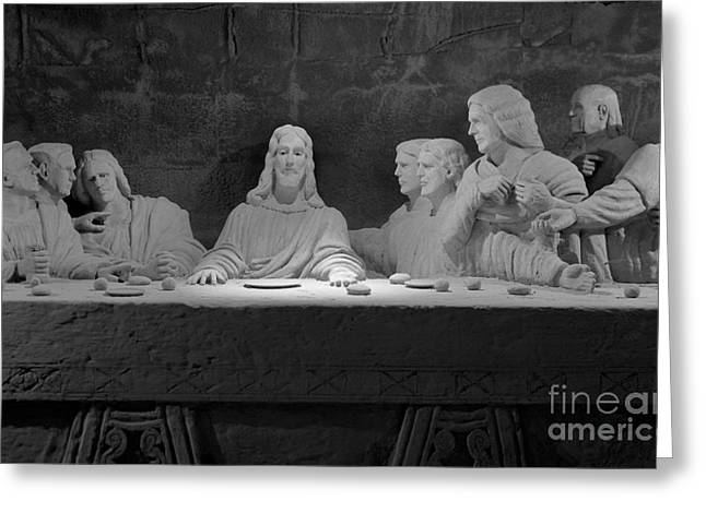 The Last Supper Greeting Card by David Ricketts