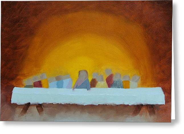 The Last Supper Greeting Card by Elise Boysaw