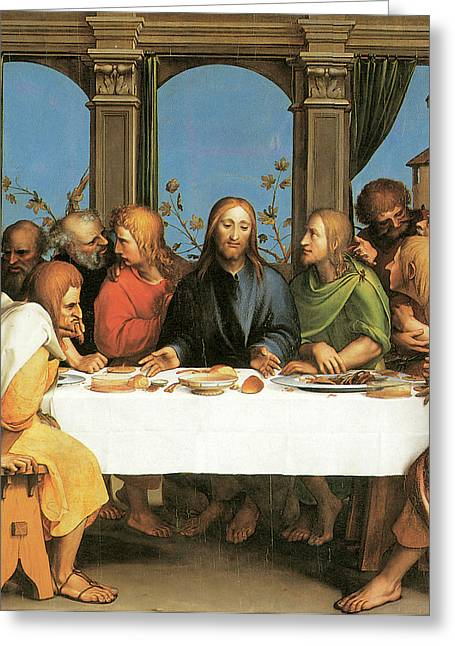 The Last Supper Greeting Card by Hans Holbein the Younger