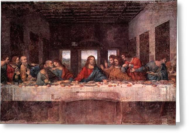The Last Supper Greeting Card by Leonardo Davinci