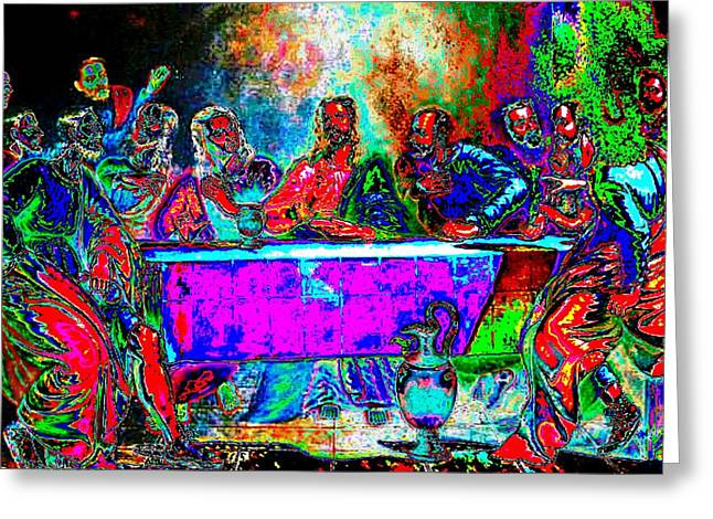 The Last Supper Rendition 01 Greeting Card