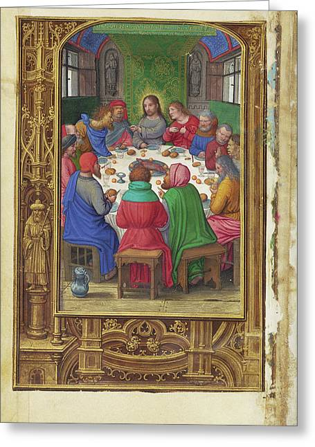 The Last Supper Simon Bening, Flemish, About 1483 - 1561 Greeting Card by Litz Collection