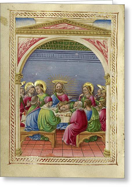 The Last Supper Taddeo Crivelli, Italian, Died About 1479 Greeting Card by Litz Collection