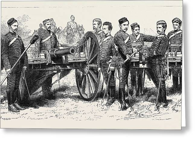 The Late Afghan War The E Battery, B Brigade Royal Horse Greeting Card by English School