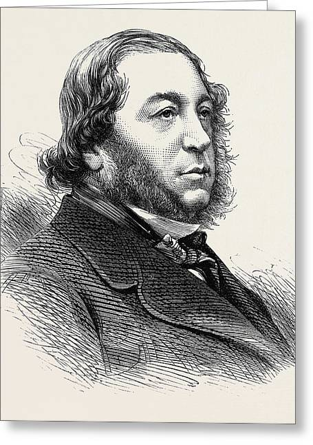 The Late Baron Meyer De Rothschild 1874 Greeting Card by English School