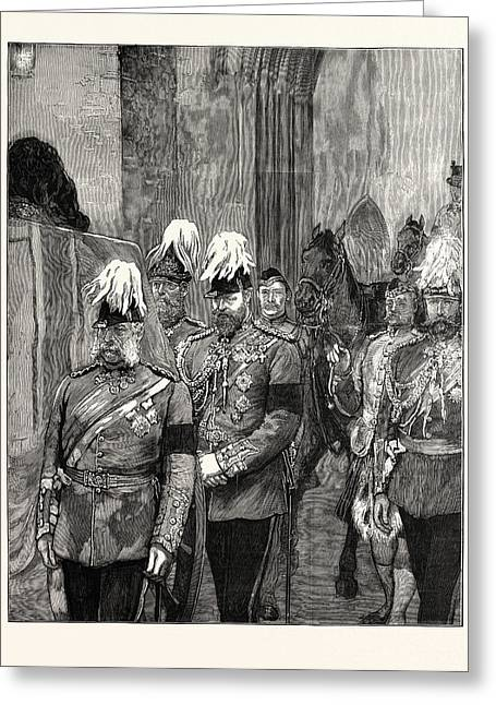 The Late Duke Of Albany Ahe Arrival At Windsor April 4 Greeting Card