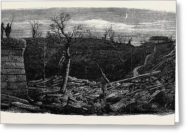 The Late Explosion At Mayence Site Of The Powder Magazine Greeting Card