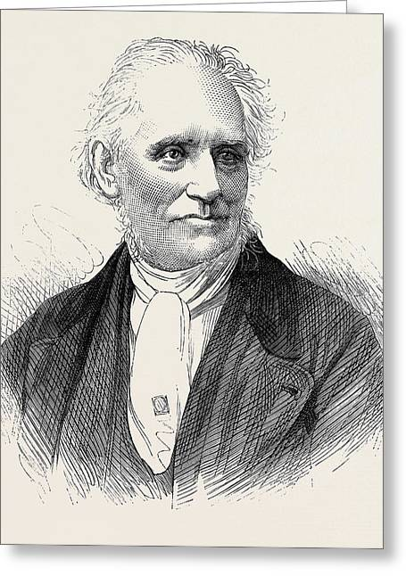 The Late Rev. J.h Greeting Card by English School