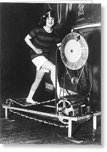 The Latest Exercise Machine Greeting Card by Underwood Archives