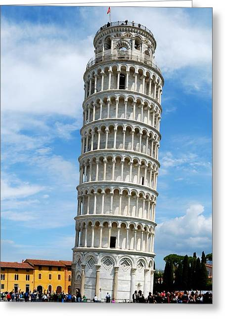The Leaning Tower Of Pisa Greeting Card by Gianfranco Weiss