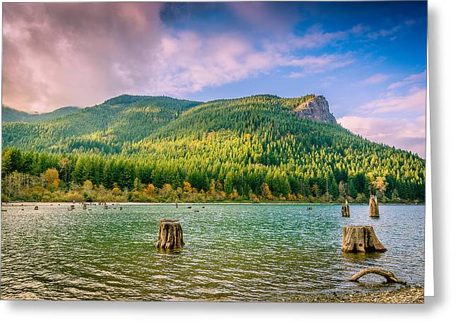 The Ledge Above The Lake Greeting Card by Brian Xavier