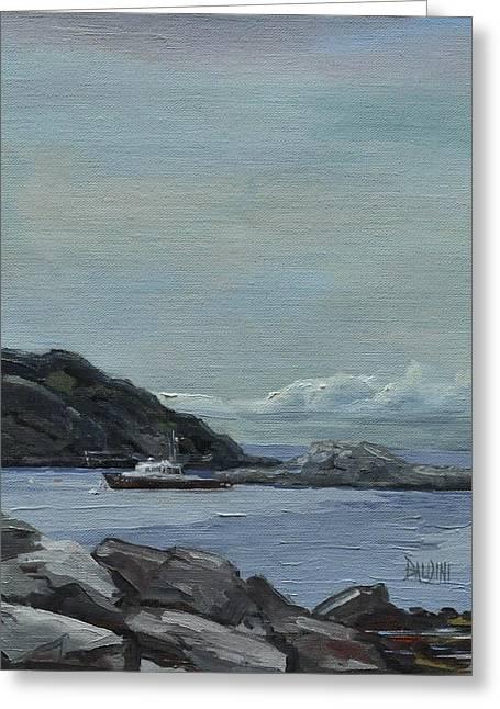 The Legacy - Monhegan Maine Greeting Card by J R Baldini IPAP