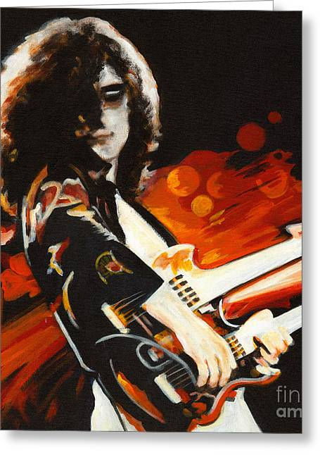 Stairway To Heaven. Jimmy Page  Greeting Card