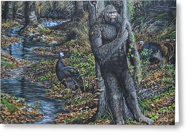 The Legend Of Gobble Creek Greeting Card