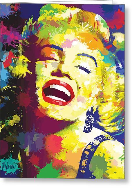 Marilyn Monroe Greeting Card by Anthony Mwangi