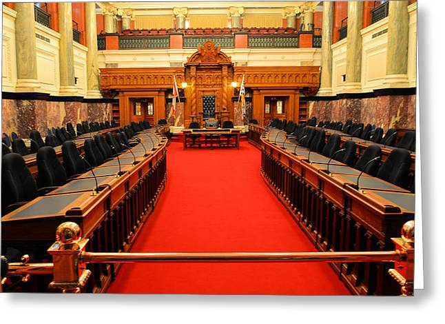 The Legislature Victoria Bc Greeting Card