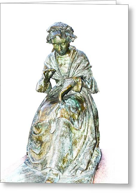 The Leicester Seamstress Statue Greeting Card
