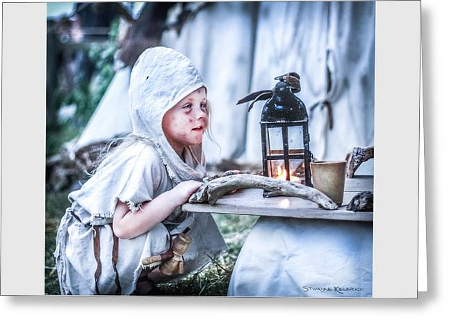 Greeting Card featuring the photograph The Leprosy Child And The Healing Lantern by Stwayne Keubrick