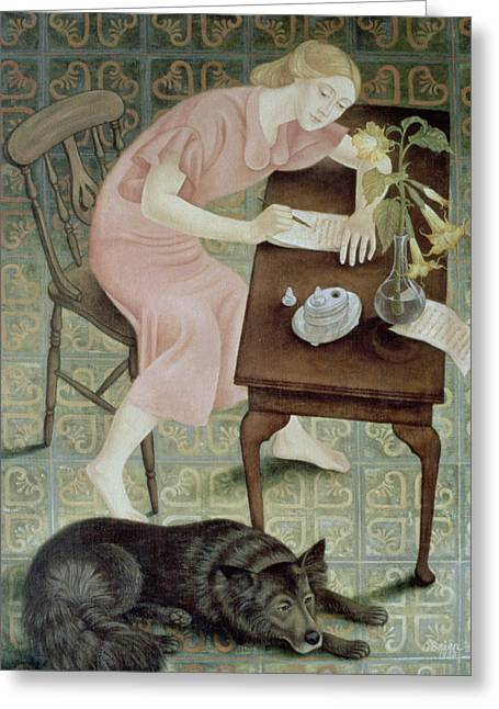 The Letter, 1993 Greeting Card by Patricia O'Brien