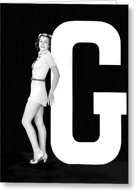 The Letter g And A Woman Greeting Card