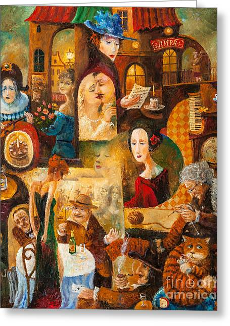 Greeting Card featuring the painting The Letter by Igor Postash