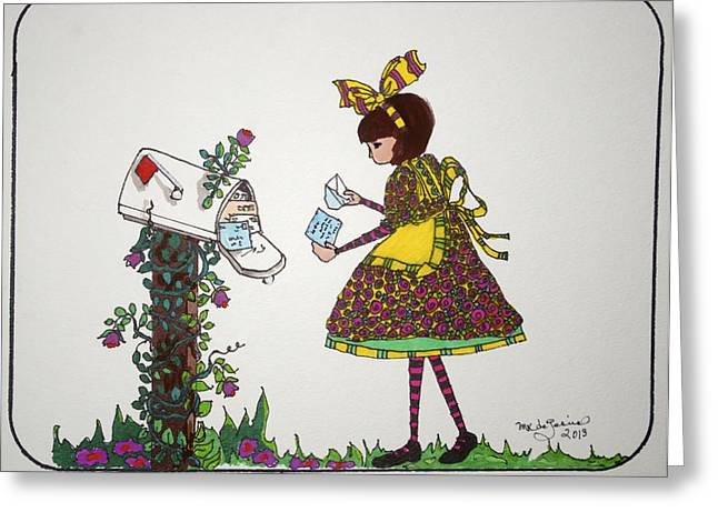 The Letter Greeting Card by Mary Kay De Jesus