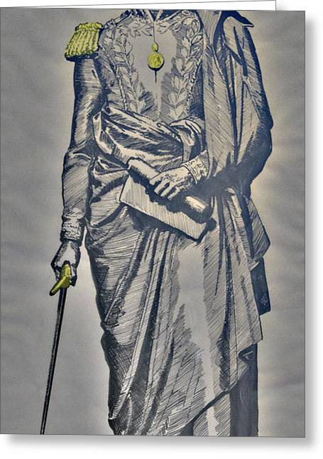The Liberator Simon Bolivar Greeting Card by Al Bourassa